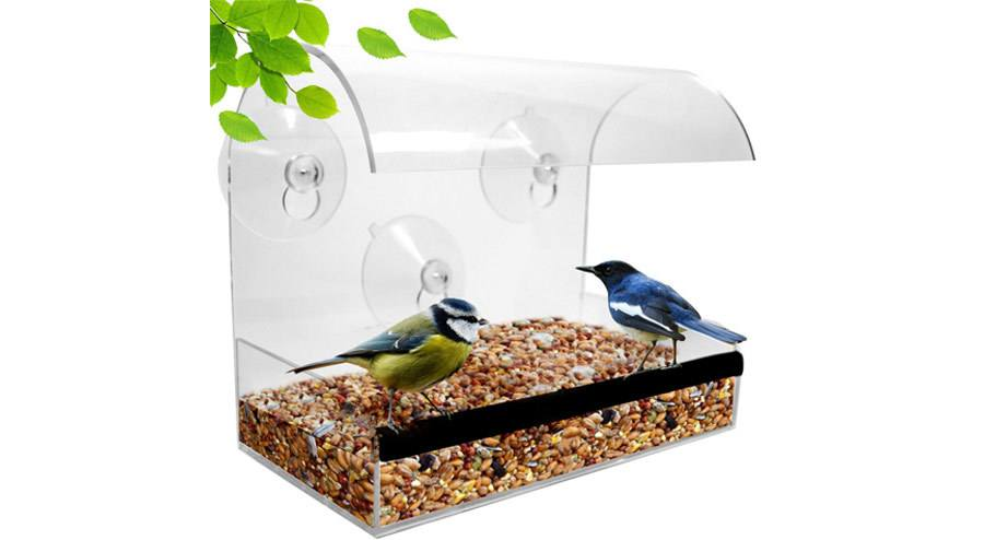Natupics Acrylic Window Bird Feeder
